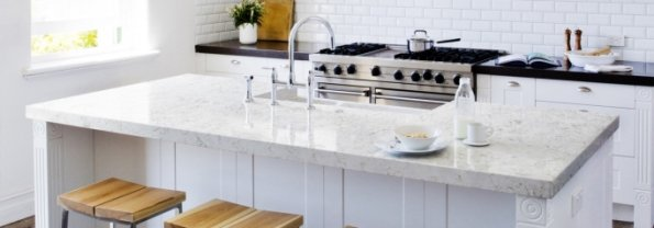 Silesstone Lusso Kitchen Island by The Countertop Company